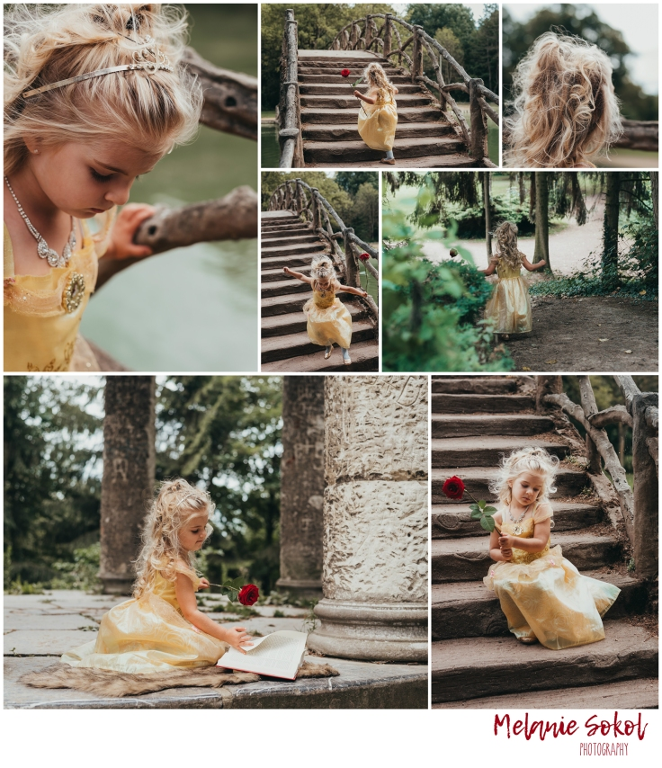 belle princess photography collage